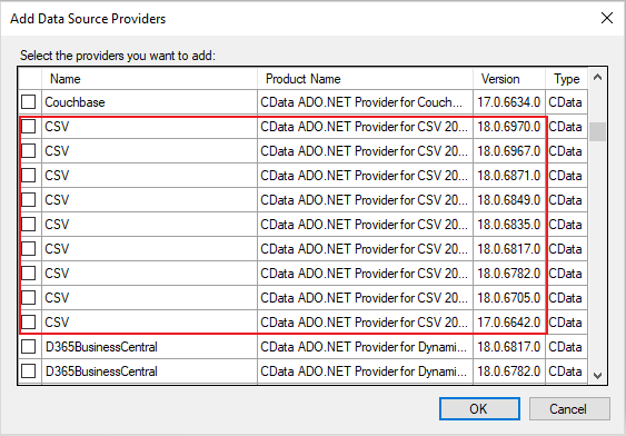 Add a CData data source – TimeXtender